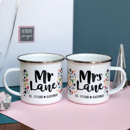 Retro Enamel Mugs